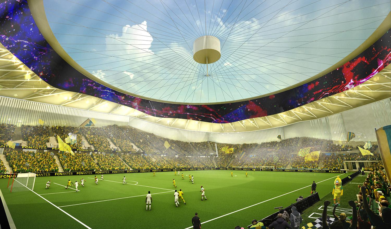 Nouveau stade point d 39 avancement du projet business club fc nantes - Porte de la beaujoire nantes ...