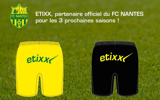 Etixx, partenaire officiel des shorts FC Nantes 2015