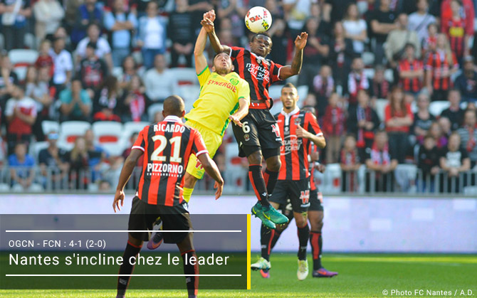 Nantes s'incline chez le leader
