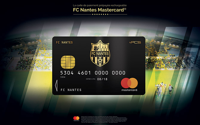 avec pcs mastercard le fc nantes lance sa carte de paiement. Black Bedroom Furniture Sets. Home Design Ideas
