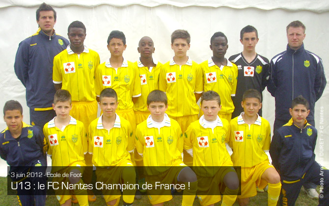 U13 : le FC Nantes Champion de France !