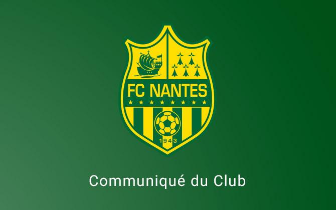 Nantes annule le déplacement de ses supporters à Bordeaux
